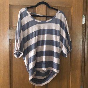 Cute lightweight open back shirt!